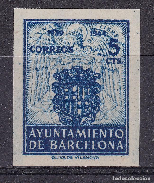 RR23- AYUNTAMIENTO BARCELONA. SIN DENTAR VARIEDAD (*) SIN GOMA LUJO. VER DORSO (Sellos - España - Estado Español - De 1.936 a 1.949 - Nuevos)