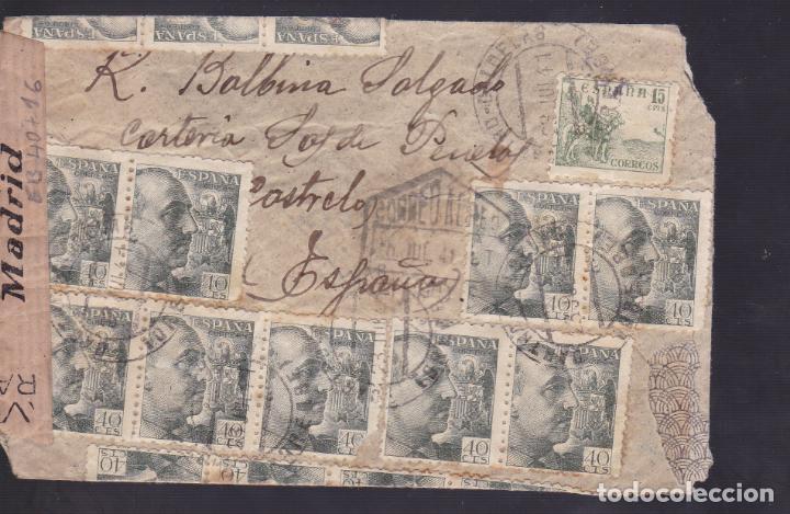 Sellos: CM1-37- Carta CASTRO CALDELAS (Orense)-Argentina 1941. Censura. Espectacular Franqueo - Foto 2 - 167477940
