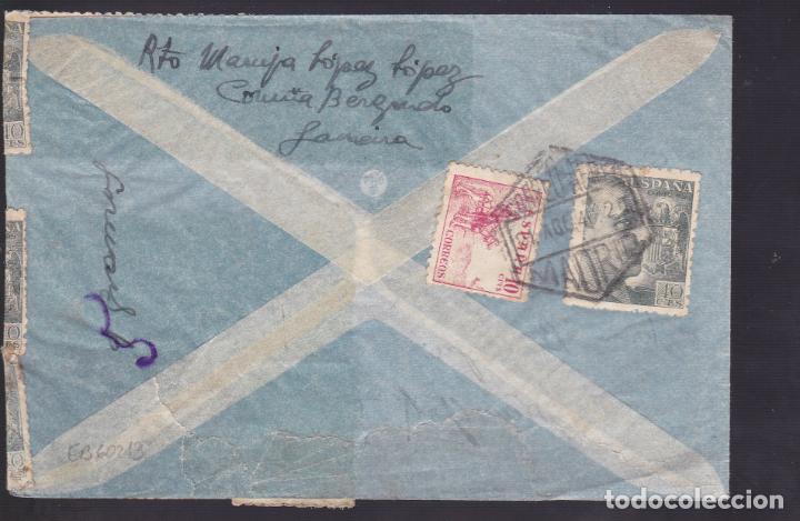 Sellos: CM1-37- Carta Avión CORUÑA- N-YORK 1940- Censura . Espectacular FRANQUEO - Foto 2 - 167478288
