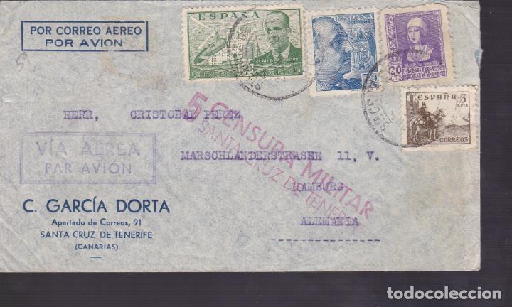 CM1-50- CARTA LAS PALMAS- ALEMANIA 1939. CENSURAS ESPAÑOLA / ALEMANA (Sellos - España - Estado Español - De 1.936 a 1.949 - Cartas)