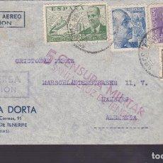 Sellos: CM1-50- CARTA LAS PALMAS- ALEMANIA 1939. CENSURAS ESPAÑOLA / ALEMANA. Lote 167483468