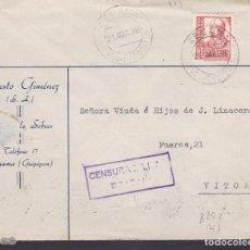 Sellos: CM1-67- CARTA CEGAMA (GUIPUZCOA) -VITORIA 1938. CENSURA BEASAIN . Lote 167485264