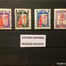 Sellos: SELLOS ESPAÑA 970/973** NUEVOS, AÑO 1943 PRO TUBERCULOSOS. Lote 167674650