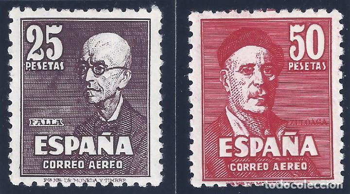 EDIFIL 1015-1016 FALLA Y ZULOAGA. CORREO AÉREO 1947. CENTRADO DE LUJO. VALOR CATÁLOGO: 475 €. MNH ** (Sellos - España - Estado Español - De 1.936 a 1.949 - Nuevos)