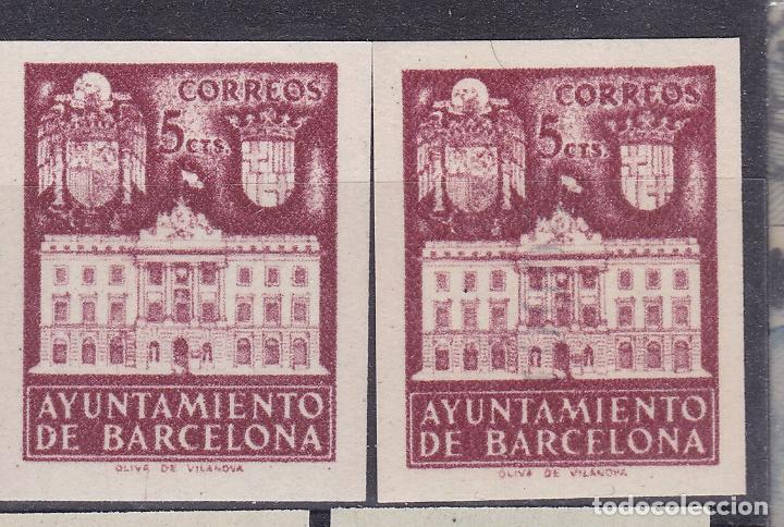 RR36- AYUNTAMIENTO BARCELONA . SIN DENTAR. VARIEDAD (*) SIN GOMA. LUJO. VER DORSO (Sellos - España - Estado Español - De 1.936 a 1.949 - Nuevos)