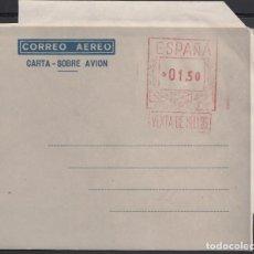 Sellos: AEROGRAMA CON FRANQUEO MECÁNICO. 1949 - 1959 TIPO C. EDIFIL Nº 37G, FONDO GRIS CLARO.. Lote 168012012
