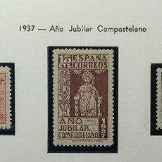 Sellos: 1937. AÑO JUBILAR COMPOSTELANO. 833/835**.. Lote 168125564