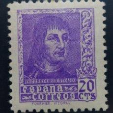 Sellos: 1938. 20C. FERNANDO EL CATÓLICO. ED. 842**. Lote 168127169