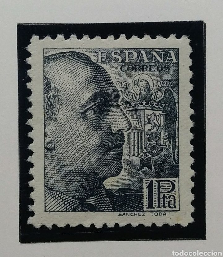 Sellos: 1939. General Franco. 1 Peseta. Ed. 875**. - Foto 1 - 168237756