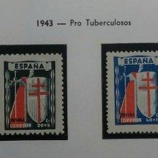 Sellos: 1943. PRO TUBERCULOSOS. ED. 970/973**.. Lote 168309121