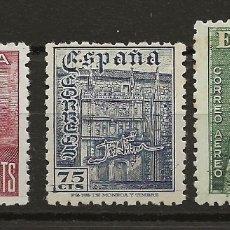 Sellos: R61.G15 / ESPAÑA 1946, EDF. 1002/04, DIA DEL SELLO, FIESTA HISPANIDAD, NUEVOS**. Lote 169021313