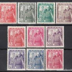 Sellos: ESPAÑA, 1948 - 1954 EDIFIL Nº 1024 / 1032 /*/, GENERAL FRANCO Y CASTILLO DE LA MOTA. . Lote 169132624