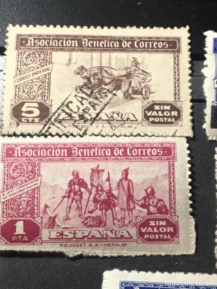 ESPAÑA ASOCIACIÓN BENÉFICA CORREOS LOTE DE 5 SELLOS NUEVOS USADOS Y HABILITADOS (Sellos - España - Estado Español - De 1.936 a 1.949 - Nuevos)