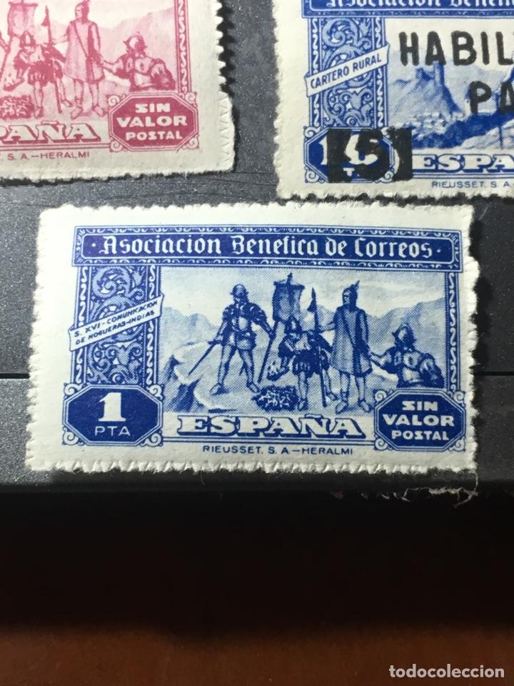 Sellos: ESPAÑA ASOCIACIÓN BENÉFICA CORREOS LOTE DE 5 sellos nuevos usados y habilitados - Foto 2 - 169410552