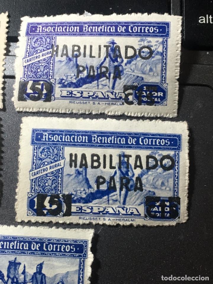 Sellos: ESPAÑA ASOCIACIÓN BENÉFICA CORREOS LOTE DE 5 sellos nuevos usados y habilitados - Foto 3 - 169410552