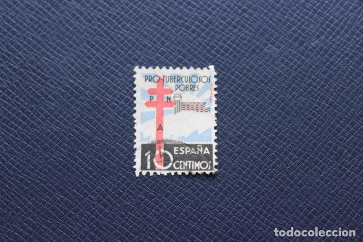Sellos: Lote 4 sellos año 1938 Pro Tuberculosos Cruz de Lorena y Sanatorio Número 866 Edifil - Foto 2 - 169448456