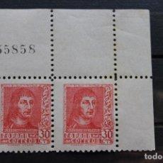 Sellos: 2 SELLOS FERNANDO EL CATÓLICO AÑO 1938. Lote 169450904