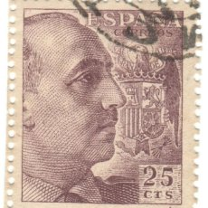 Sellos: ESPAÑA - GENERAL FRANCO Y ESCUDO DE ESPAÑA / EDIFIL 1048A. Lote 170000356