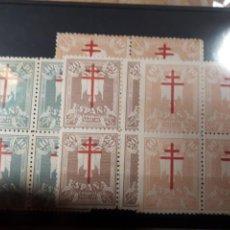 Sellos: 1942 ESPAÑA BLOQUE DE 4 SERIE EDIFIL 957/960 NUEVO LOTE N. 101. Lote 170034076