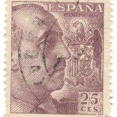 Sellos: ESPAÑA - GENERAL FRANCO Y ESCUDO DE ESPAÑA / EDIFIL 1048A. Lote 170043472