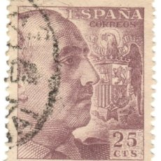 Sellos: ESPAÑA - GENERAL FRANCO Y ESCUDO DE ESPAÑA / EDIFIL 1048A. Lote 170044060