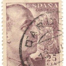 Sellos: ESPAÑA - GENERAL FRANCO Y ESCUDO DE ESPAÑA / EDIFIL 1048A. Lote 170044740