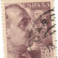 Sellos: ESPAÑA - GENERAL FRANCO Y ESCUDO DE ESPAÑA / EDIFIL 1048A. Lote 170050076