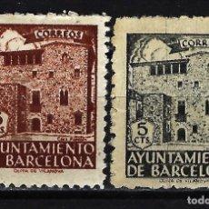 Sellos: 1943 ESPAÑA - BARCELONA CASA PADELLÁS - EDIFIL 45 MNH** Y 46 MNG* NUEVOS. Lote 170329736