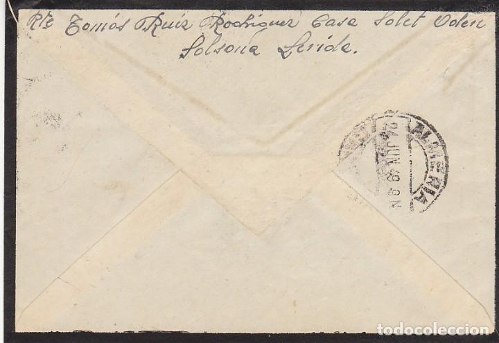 Sellos: LUTO : SOLSONA (LERIDA) a ALMERIA. 1949 - Foto 2 - 171050270