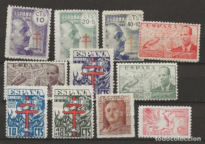 R61/ ESPAÑA, LOTE SELLOS ESTADO ESPAÑOL, NUEVOS **/* (Sellos - España - Estado Español - De 1.936 a 1.949 - Nuevos)