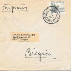 Sellos: IMPRESO CIRCULADO DE BARCELONA A GANTE - BELGICA. 1947. Lote 171235815