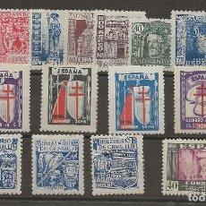 Sellos: R7/ ESPAÑA 1943-46, MUY BONITO LOTE, CATALOGO 45,00 €. Lote 171242054