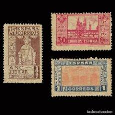 Sellos: 1937 AÑO JUBILAR COMPOSTELANO .SERIE MNH PAPEL OSCURO. EDIFIL.833-35. Lote 171248528