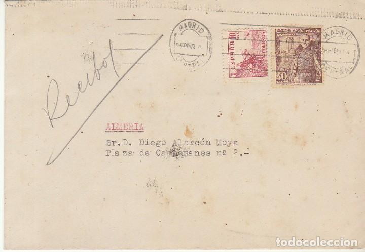 MADRID A ALMERIA. 1950. (Sellos - España - Estado Español - De 1.936 a 1.949 - Cartas)