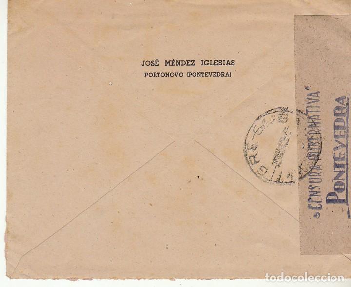 Sellos: CENSURA : sello 925. PORTONOVO (PONTEVEDRA)a BUENOS AIRES (ARGENTINA) - Foto 2 - 171540098