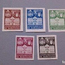 Sellos: ESPAÑA - 1943 - BARCELONA - EDIFIL 33/37S- - SERIE COMPLETA - MNH** - NUEVOS - VALOR CATALOGO 74€.. Lote 171551200