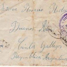 Sellos: CENSURA: SANGENGO (PONTEVEDRA) A BUENOS AIRES (ARGENTINA). 1945. Lote 171673899