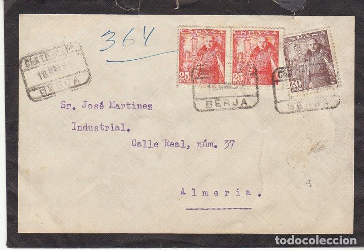 BERJA A ALMERIA.1950. (Sellos - España - Estado Español - De 1.936 a 1.949 - Cartas)