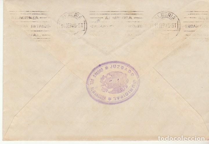 Sellos: CUEVAS del ALMANZORA a ALMERIA. 1945. - Foto 2 - 171674228