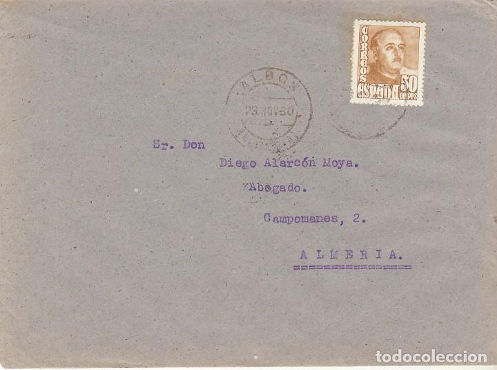 ALBOX A ALMERIA. 1950. (Sellos - España - Estado Español - De 1.936 a 1.949 - Cartas)