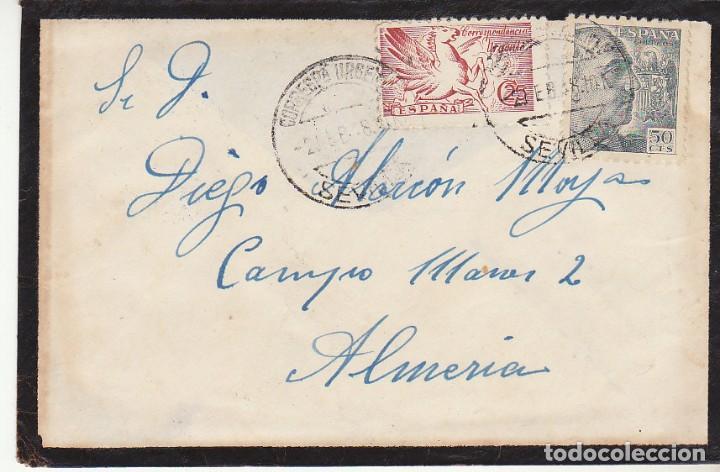 LUTO: SEVILLA A ALMERIA.1948. (Sellos - España - Estado Español - De 1.936 a 1.949 - Cartas)