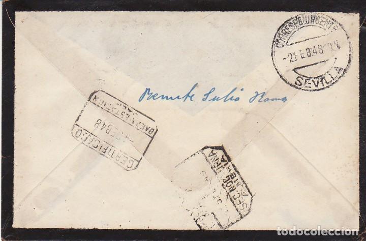 Sellos: LUTO: SEVILLA a ALMERIA.1948. - Foto 2 - 171692853