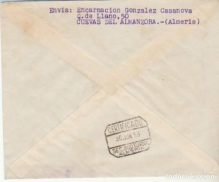 Sellos: CUEVAS DE ALMANZORA a ALMERIA.1953. - Foto 2 - 171694244