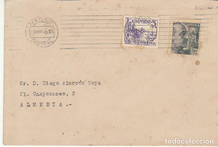 MADRID A ALMERIA. 1949 (Sellos - España - Estado Español - De 1.936 a 1.949 - Cartas)