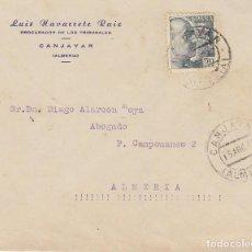 Sellos: CANJAYAR A ALMERIA. 1947.. Lote 171695283