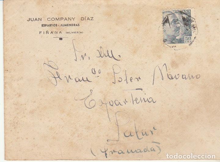 FIÑANA A ALMERIA. (Sellos - España - Estado Español - De 1.936 a 1.949 - Cartas)