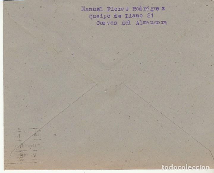 Sellos: CUEVAS del ALMANZORA a ALMERIA. 1945. - Foto 2 - 171695803