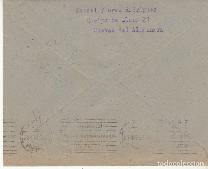 Sellos: CUEVAS del ALMANZORA a ALMERIA. 1946. - Foto 2 - 171696079