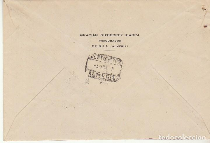 Sellos: LUTO: BERJA a ALMERIA.1945. - Foto 2 - 171696873