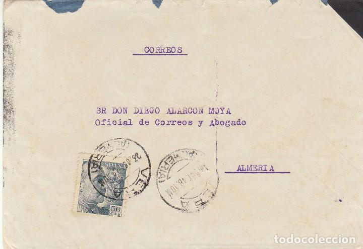 VERA A ALMERIA. 1948. (Sellos - España - Estado Español - De 1.936 a 1.949 - Cartas)